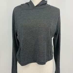 Cropped lightweight hooded T-shirt size large